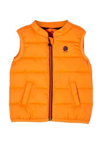 s.Oliver Unisex - Baby Steppweste mit leichter Wattierung orange 62