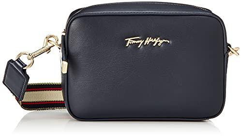 Tommy Hilfiger - Borsa donna piccola con tracolla logo - Misura One size