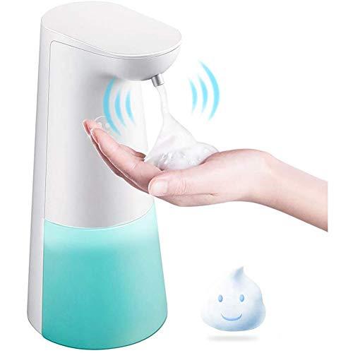 Wuudi Automatischer Seifenspender mit integriertem Infrarot- Sensor Berührungslos Schaumseifenspender Schäumende Seifenspender Elektrischer Seifenspender für Küchen und Badezimmer 250ml