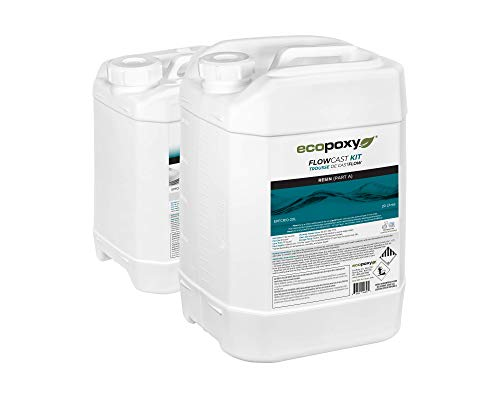 EcoPoxy FlowCast 30L Kit Clear Casting Epoxy Resin for Wood Working, Tables, Counters