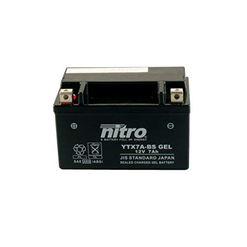 Batterie 12V 6AH YTX7A-BS Gel Nitro 50615 Fiddle II 125 AW12W 10-15