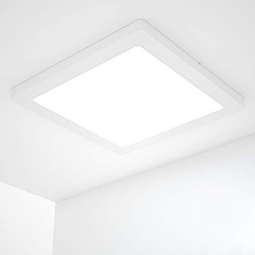 18W Deckenlampe, Wasserfest Badlampe 4000K LED Deckenleuchte 1440LM Lampen ideal für Badezimmer Balkon Flur Küche Wohnzimmer weiß Badezimmerlampe Ø217×217mm(vierecking)