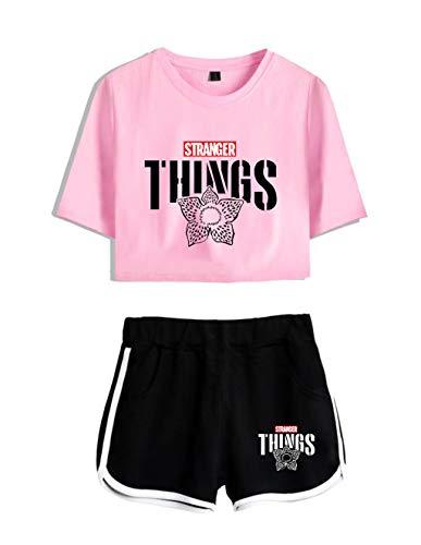 Conjunto Mujer Top y Pantalones Cortos Stranger Things, Conj