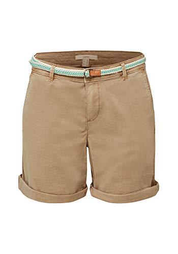 Esprit 030EE1C305 Shorts, Damen, Beige 36 EU