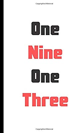 One Nine One Three: Journal Delta Sigma Theta Gift for sisterhood or future soror notebook 120 pages Blank Lined Journal - Notebook & Planner - for Journaling, Notes, Composition Book
