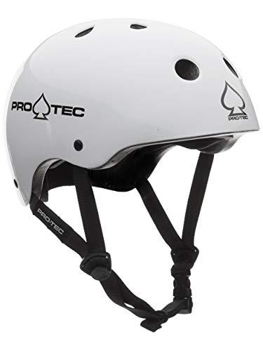 Pro-Tec Helm The Classic Casque Mixte, Blanc Brillant, XS (52-54 cm)