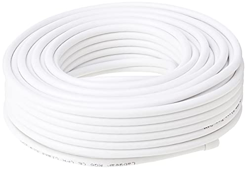 Labgear Coax Cable 25m RG6 White, 27600FW25 Aerial & Satellite Cable Coaxial