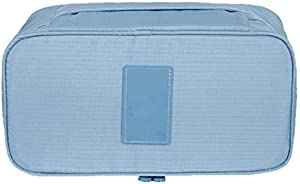 حقيبة أنيقة محمولة متعددة الوظائف للسفر لتنظيم مستحضرات التجميل حقيبة تخزين الأمتعة حمالة الصدر الملابس الداخلية الحقيبة الزرقاء