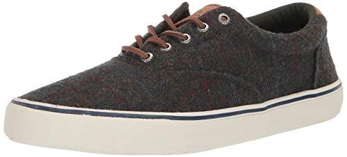Sperry Mens Striper II CVO Wool Plaid Sneaker, Olive Plaid, 9 -  STS19812-310-9 M US