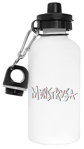 Monstrosa Original Botella de Agua Blanco Aluminio Reutilizable Water Bottle White Aluminium Reusable