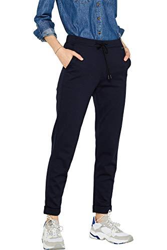 ESPRIT Damen 999Ee1B806S Hose, Blau (Navy 400), W40/L30(Herstellergröße: 40/30)