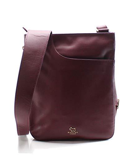 RADLEY London Damen Tasche Umhängetasche Pockets Leder rot, Burgundy 10231, Größe ca.: ca. 22,5 x 3,5 x 27 cm (L x B X H)