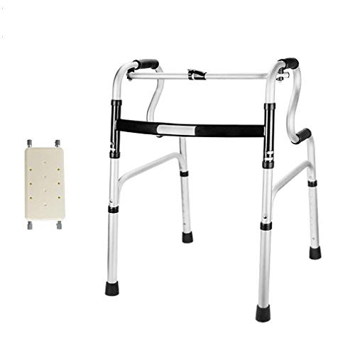 Caminantes para personas mayores Silla de ducha con asiento acolchado, caminante bariátrico plegable, Movilidad liviana Ayuda MARCO DE CAMINO - Altura Ajustable - reposabrazos de caña para ancianos ad ✅