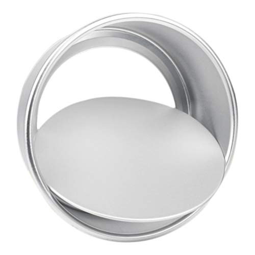 Hemoton Cheesecake Pan with Removable Bottom Round Aluminum Chiffon Cake Mold DIY Nonstick Baking Mould for Fondant Pizza Bakeware 6 Inch
