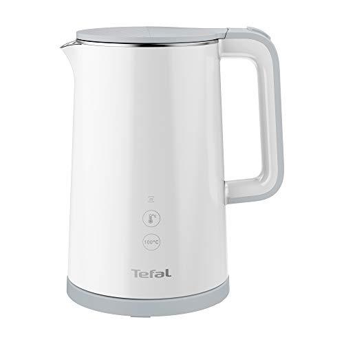 Tefal KO6931 Sense Wasserkocher | 1,5 Liter Kapazität | Digitalanzeige | 5 Temperaturstufen | 360°-Sockel | Wasserstandsanzeige | herausnehmbarer Kalkfilter | 30 Minuten Warmhaltefunktion | weiß
