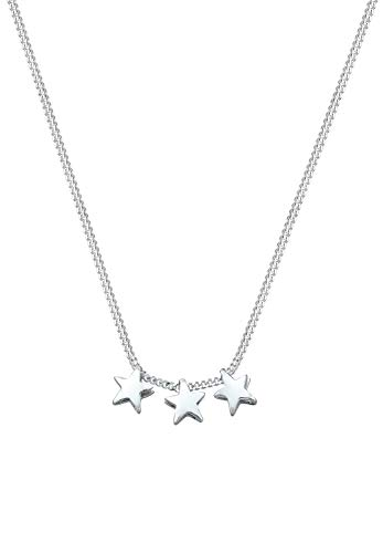 Elli Halskette Damen Astro Sterne modern in 925 Sterling Silber