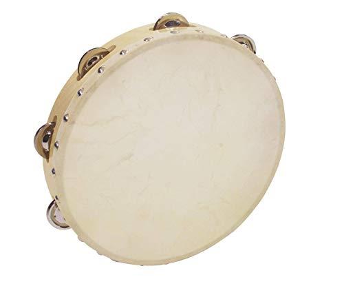 Pandereta HOLLOW con 8 pares de sonajas, madera, 25cm - Instrumento de mano / Aro de sonajas - klangbeisser