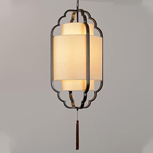 Lámpara de granja, luz colgante de techo lineal moderna, cuerpo de la lámpara de hierro forjado de una sola cabeza, lámpara de tela decoración de franja colgante, DIRIGIÓ Especificaciones de la bombi