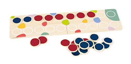 Small Foot 11369 Rechenplättchen Educate aus Holz, FSC 100%-Zertifiziert, leicht Mathematik Lernen, für Schulkinder Spielzeug, Mehrfarbig