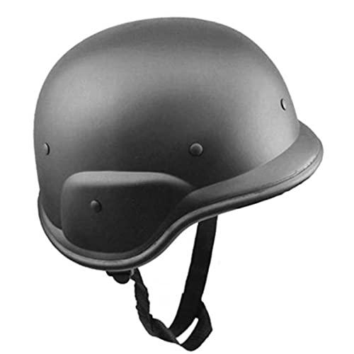 ZHOUSAN Casco de plástico Militar tácticas Airsoft Field Army Combat Motos Motocicleta CS Abs Cascos Equipo de protección-Negro, Talla única