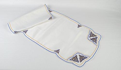 Table Runner in a Blue Celtic Eternity Knot Design