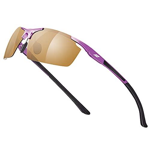 Fashion Polarized Sunglasses UV Blocking Protection Anti-Glaring Al-Mg Alloy Frame