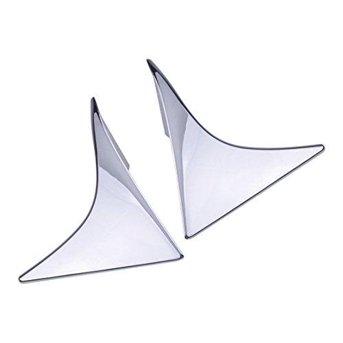 CITALL Une paire de garniture de volet latéral spoiler triangulaire chromé