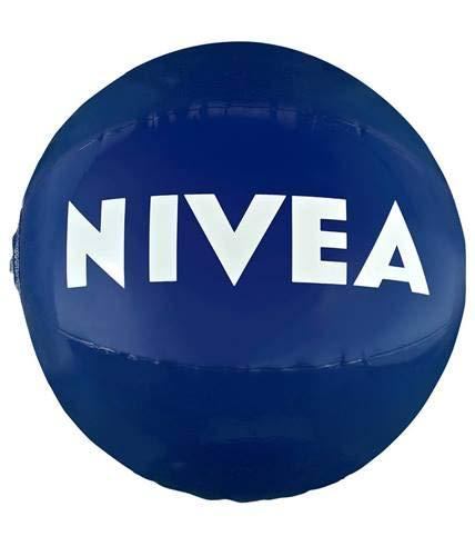 NIVEA Pelota de Playa Inflable e Impermeable, Pelota de Aire Resistente al Sol, balón Hinchable para el Verano, tamaño único, 1 Pelota de 30 cm de diámetro, diversión en el Agua para niños y Adultos