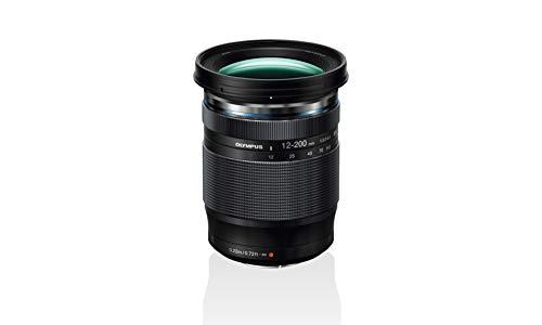 Olympus Objetivo M.Zuiko Digital ED 12-200mm F3.5-6.3, Zoom estándar, Adecuado para Todas Las cámaras MFT (Modelos Olympus OM-D & Pen, Serie G de Panasonic), Negro