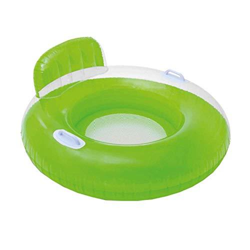 Piscina Flotante Fila-Color del Caramelo de la natación Flotante Fila Respaldo Mango natación Anillo Individual reclinable Sofá Agua,C