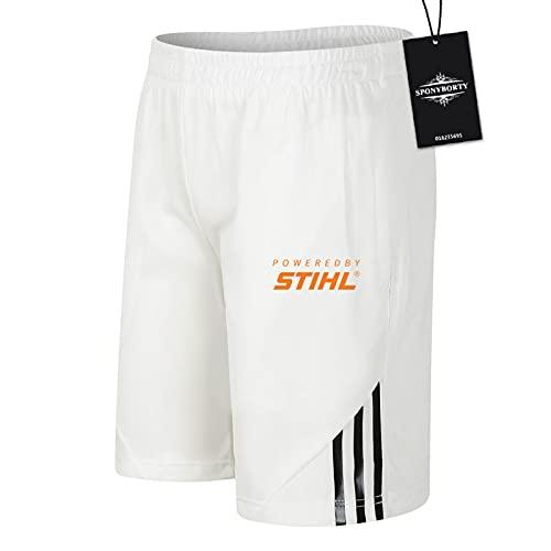 JasMINBusse de Los Hombres Sudor Corto Verano Sti-hl-s Pantalones Cortos Algodón Corto Baloncesto Trotar Traje Causal/Blanco/XXL