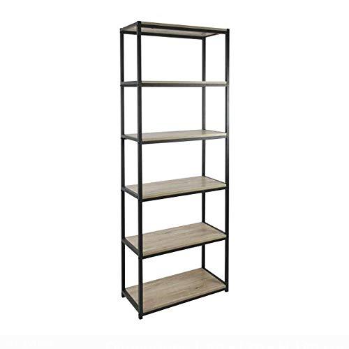 Bibliothèque 5 étagères, Collection Loft, Bois, 60x30x180 cm