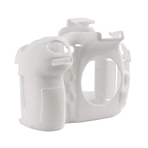 Funda de silicona de goma para cámaras Nikon D810 SLR, funda protectora de cuerpo de la cámara (color: blanco)