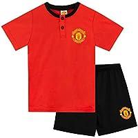 Premier League Pijamas de Manga Corta para niños Manchester United Rojo 9-10 Años