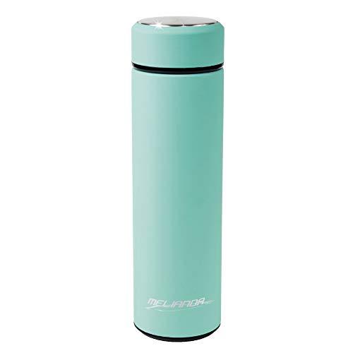 MELIANDA MA-1400 Thermosflasche 460 ml - doppelwandig Vakuum isolierte, aus Edelstahl - Thermosflasche flexibel für heiß und kalt mit Edelstahl Teesieb, Türkis