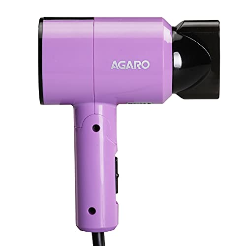 AGARO HD-1211 Hair Dryer 1100 Watts, 2 Heat Speed and Cool Mode, Foldable (Compact in Size)