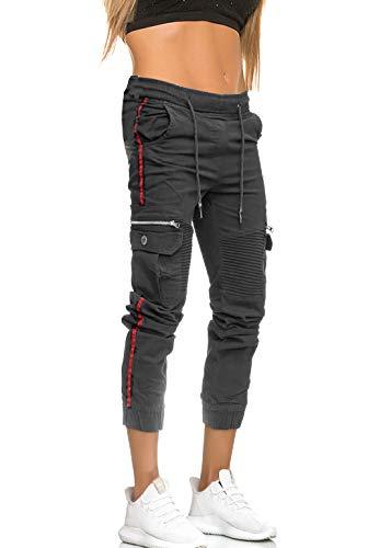 MATKA Damen Frauen Jogging Hose Jogger Streetwear Sporthose Jogg Jeans Bekleidung Chil zuhause Modell 3299 Antra 31