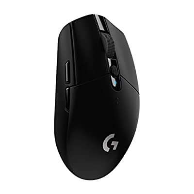 Logitech G305 Lightspeed Wireless Gaming Mouse, HERO Sensor, 12,000 DPI, Lightweight, 6 Programmable Buttons, 250h Battery Life, On-Board Memory, Compatible with PC / Mac - Black