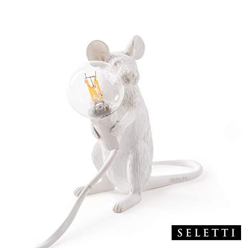 Seletti lampada mouse topo seduto bianco (originale seletti)