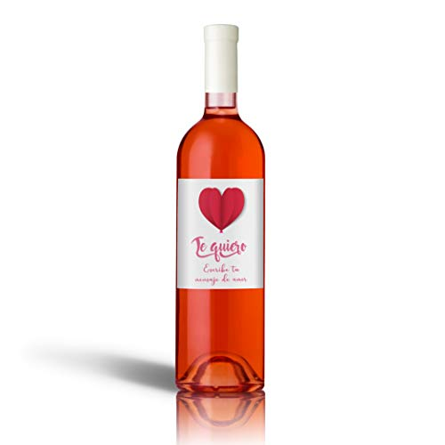 Regalo San Valentín Botella Vino Etiqueta Personalizada