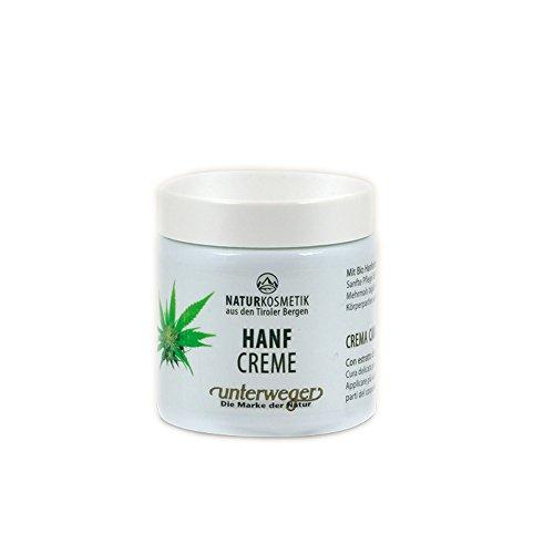Unterweger HANF CREME für anspruchsvolle und empfindliche Haut 100 ml – NATURKOSMETIK mit reinem Hanföl aus biologischem Anbau