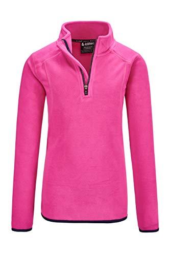 Killtec Mädchen Oppdal GRLS Fleece SHRT Microfleece Shirt Mit Stehkragen Und Reißverschluss, neon pink, 128