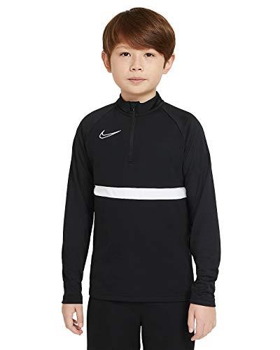 NIKE Camiseta Unisex para niños. Black/White/White/White XS