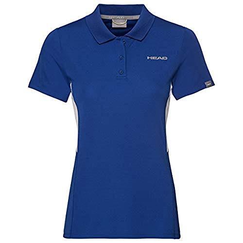 Head Club Tech - Polo para Mujer, Mujer, Polos, 814339-RO XL, Azul Cobalto, Extra-Large