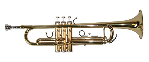 Karl Glaser Bb Trompete, NEU! Messing lackiert mit Mundstück und Koffer
