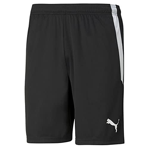 PUMA mens Shorts, Puma Black-Puma White, L