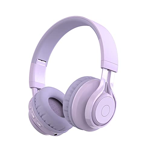 Candy Color LED Luminious Headset, Gaming Wireless Bluetooth 5.0 Auriculares para PC/ordenador portátil/plataforma de juegos, auriculares plegables sobre la oreja para niña