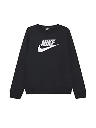 Nike Felpa da Ragazzo Girocollo Club Fleece Nera Taglia S cod CV9297-011 -9B