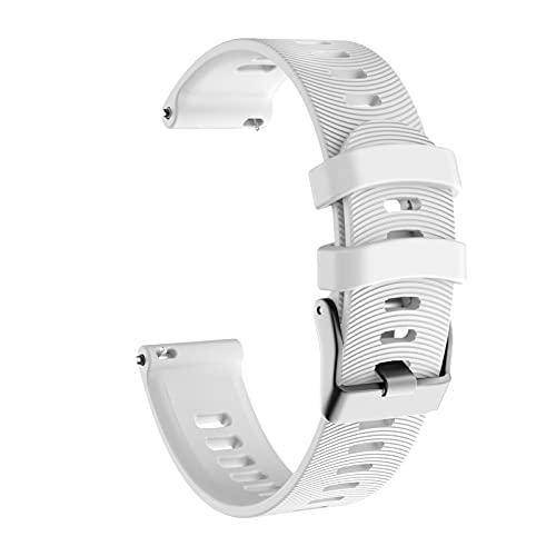 LXF JIAJU para Garmin Forerunner 245 245M Vivoactive 3 Silicone Watch Band Correa para Garmin Forerunner 645 635 VIVOMOVE HR Pulsera Correa (Color : White)
