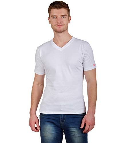 PrintOctopus Plain Tshirt for Men (5+ Styles Available) | Basic T-Shirt | Plain White T-Shirt | White Solid Colour Tshirt | Round Neck T Shirt | Cotton T-Shirt | Short Sleeve and Long Sleeve T Shirt